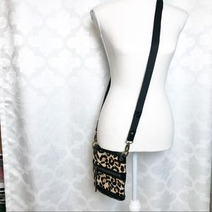 The Sak  Leather Faux Cheetah Crossbody